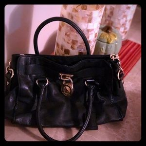 Michael Kors hamilton leather satchel